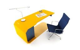 Moderne het werkplaats in bureau Stock Afbeelding