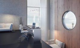 Moderne het werkruimte van het huisbureau Royalty-vrije Stock Afbeelding