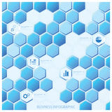 Moderne Hexagon-Geschäft Infographic-Design-Schablone Lizenzfreies Stockfoto