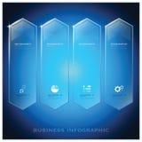 Moderne Hexagon-Geschäft Infographic-Hintergrund-Design-Schablone Lizenzfreies Stockbild