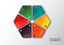 Moderne Hexagon infographics Wahlfahne Stockfotos