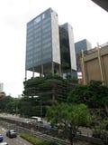 Moderne high-rise gebouwen Architectuur en kunst in moderne beschaving royalty-vrije stock afbeeldingen