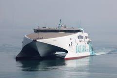 Moderne hoge snelheidsveerboot Royalty-vrije Stock Fotografie