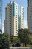 Moderne hoog-toeneemt huizen Stock Foto