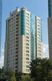 Moderne hoog-toeneemt huizen Stock Afbeelding