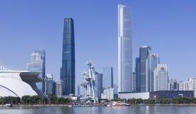 Moderne horizon van Guangzhou, China royalty-vrije stock afbeelding