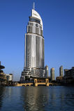 Moderne Hotel-Adresse bei im Stadtzentrum gelegenem Burj Dubai, Dubai Lizenzfreie Stockfotos