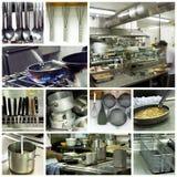 Moderne Hotelküchecollage Lizenzfreie Stockfotos