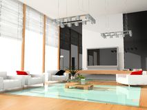Moderne hotelruimte royalty-vrije stock afbeeldingen