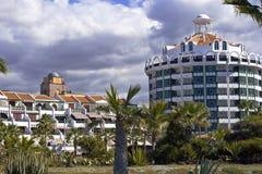 Moderne hotels op Tenerife Stock Foto