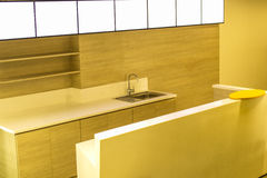 Moderne houten keuken Royalty-vrije Stock Foto
