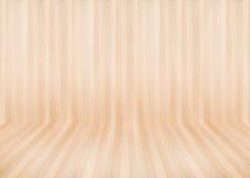 Moderne houten muur en vloer in de houten ruimteachtergrond en t Stock Foto
