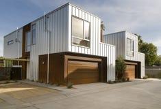 Moderne huis buitenarchitectuur Stock Foto