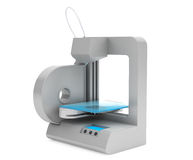 Moderne Huis 3d printer vector illustratie