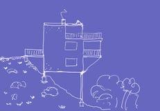 Moderne Huisschets vector illustratie