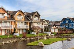Moderne huizen royalty-vrije stock fotografie