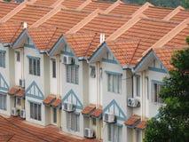 Moderne huizen Stock Afbeeldingen