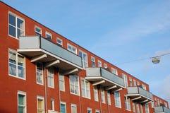 Moderne huizen in Amsterdam Stock Foto