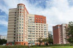 Moderne huizen in de oude Russische stad van Nizhny Novgorod Royalty-vrije Stock Fotografie