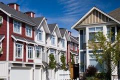 Moderne huizen in de stad Royalty-vrije Stock Fotografie