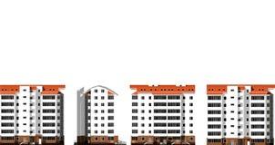 Moderne huizen Stad, architectuur Stock Afbeelding