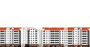 Moderne huizen Stad, architectuur Royalty-vrije Stock Foto