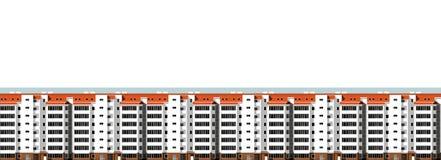 Moderne huizen Stad, architectuur Stock Foto's
