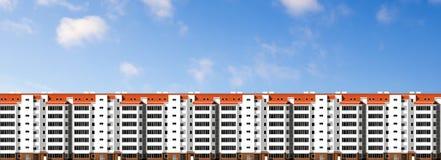 Moderne huizen Stad, architectuur Stock Fotografie