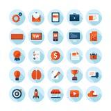 Moderne Ikonen des flachen Designs stellten von den Webdesigneinzelteilen ein Lizenzfreies Stockbild