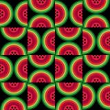 Moderne Ikonenzusammenfassungswassermelone Stockbild