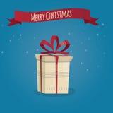 Moderne Illustration des Weihnachtsgeschenks Lizenzfreies Stockbild