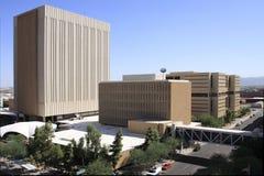 Moderne im Stadtzentrum gelegene Gebäude Stockfotos