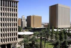 Moderne im Stadtzentrum gelegene Gebäude stockbild