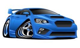 Moderne Import-Sport-Auto-Illustration lizenzfreies stockfoto