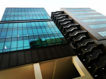 Moderne industriële bureauarchitectuur Royalty-vrije Stock Afbeeldingen