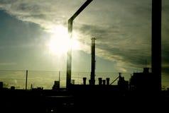 Moderne industriële gebouwen Royalty-vrije Stock Foto