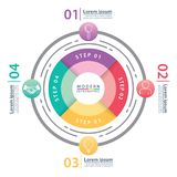 Moderne infographic cirkel royalty-vrije stock foto