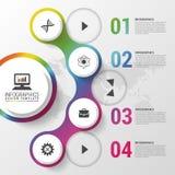 Moderne infographic Designschablone Auch im corel abgehobenen Betrag Kann für Diagramm, Fahne, Zahlwahlen, Arbeitsflussplan verwe Lizenzfreie Stockfotografie