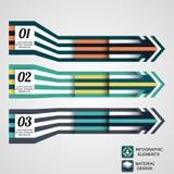 Moderne infographic Elemente, Geschäftspfeil Stockfotos