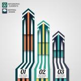 Moderne infographic Elemente, Geschäftspfeil Lizenzfreie Stockfotografie