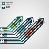 Moderne infographic Elemente, Geschäftspfeil, materielles Design Lizenzfreies Stockbild