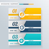 Moderne Infographic-Gestaltungselementfahne Stockfotografie