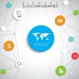 Moderne infographic Netzschablone mit Platz für Stockfoto