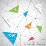 Moderne infographic Netzschablone mit Platz für Lizenzfreie Stockfotos
