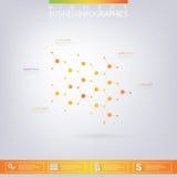 Moderne infographic Netzschablone mit Platz für Stockfotografie