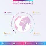 Moderne infographic Netzschablonenkugel mit Stockbilder