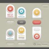 Moderne infographic Schablone Stockfotografie