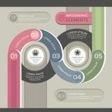 Moderne infographic Schablone Lizenzfreie Stockbilder