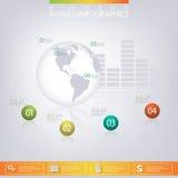 Moderne infographic Schablone 3D kann für verwendet werden Lizenzfreies Stockbild