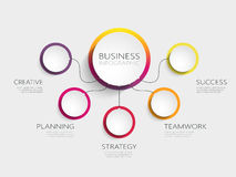 Moderne infographic Schablone der Zusammenfassung 3D mit fünf Schritte für Erfolg Stockfoto